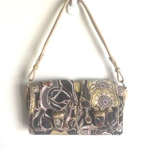 Cole Haan  Hippie Print Fabric Leather Mini Bag